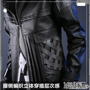 Image 4 - Anime! Arknights SilverAsh Game Handsome Gothic Leather Uniform Cosplay Costume Full Set Halloween Suit For Men Free Shipping