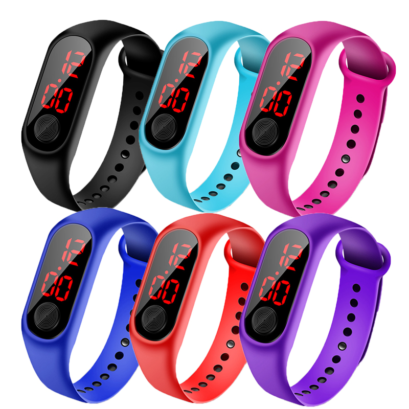 Children's Watch Led Outdoor Sport Digital Waterproof Clock For Boys Girls Multifunction