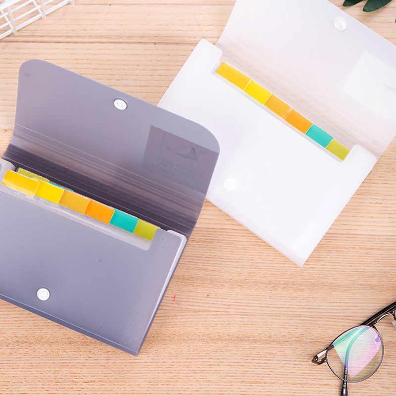 1pc Plastic A6 File Folder Document Organizer Receipt File Expanding Wallet 13 Pockets Bill Folders Paper Holder Office Supplies
