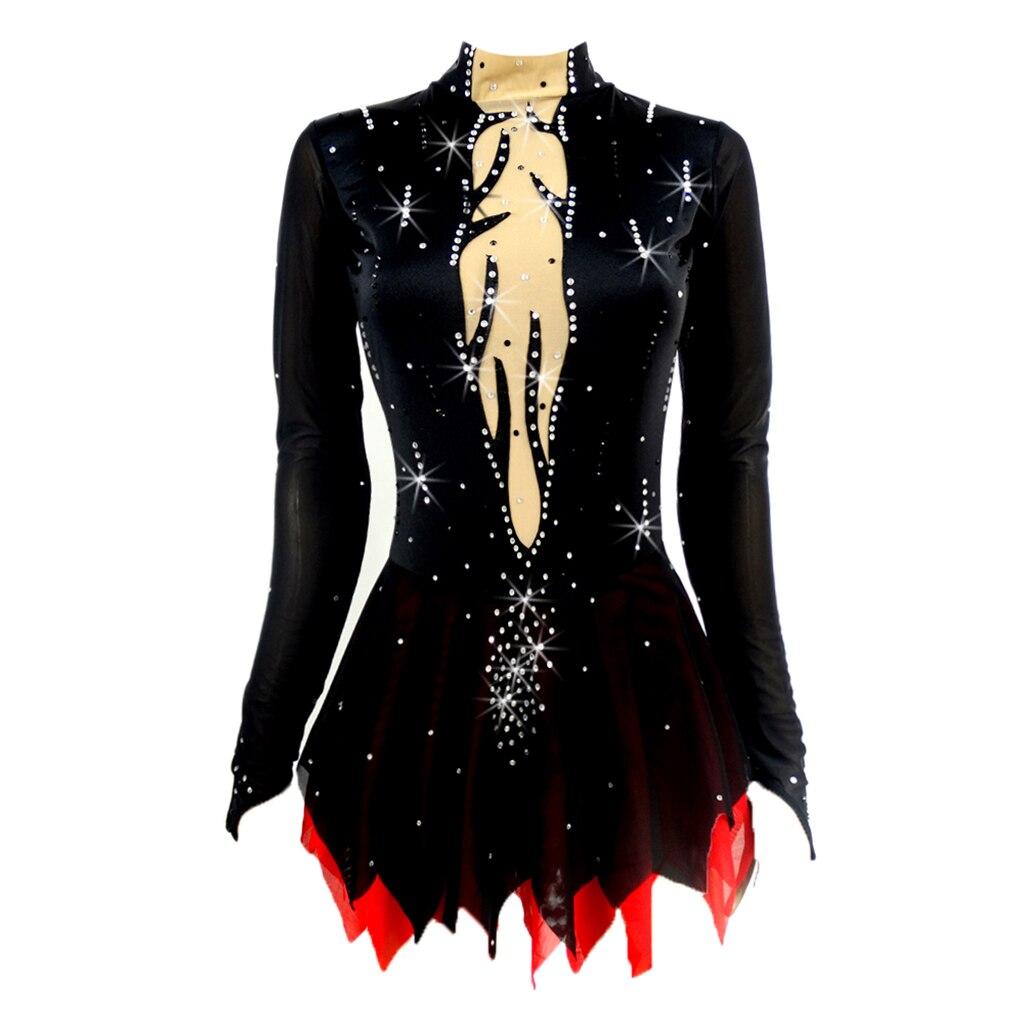 Girl Figure Skating Sequin Dress Leotard Gymnastics Dress Dance