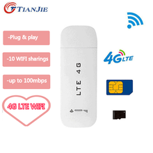 TIANJIE LTE USB routeur 3G/4G Wifi routeur sans fil USB voiture Modem 4G Mini Wifi bâton carte Sim données Mobile Hotspot carte Sim Dongle(China)