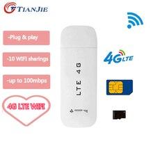 Разблокированный LTE-роутер 4G Sim-карта данных USB 3G Wi-Fi Беспроводной автомобильный широкополосный модем карта мобильная мини-точка доступа/дон...