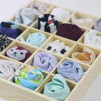 20 fächer Lagerung Box Unterwäsche Lagerung Fall Socken Organizer Höschen Stapelbar Schublade Kleinigkeiten Behälter auf