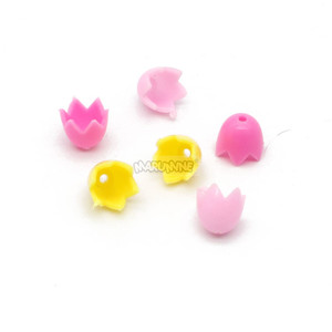 Image 5 - Marumine チューリップ市部分 50 個春の花茎草の花クラシックレンガ建設知育玩具