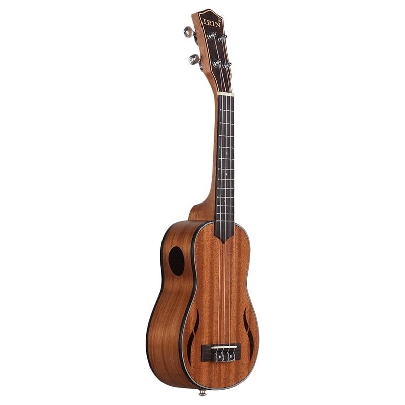 Irin Soprano Ukulele 21 Inch Walnut Wood Acoustic Guitar Ukelele Mahogany Fingerboard Neck Hawaii 4 String Guitarra Wood Color