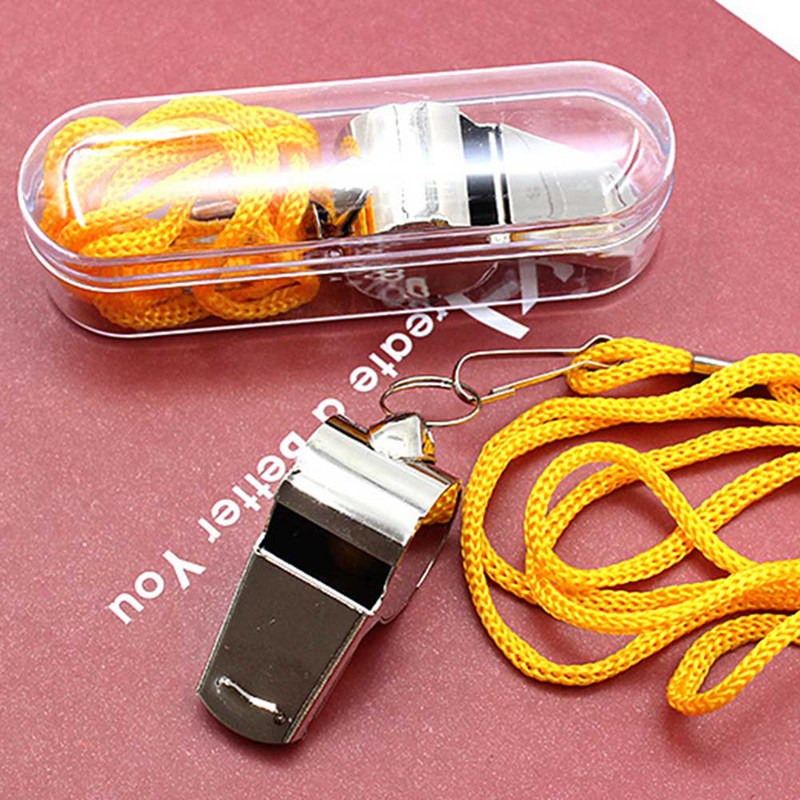 Hot Sale  Referee Whistle Stainless Steel Extra Loud Whistle For School Sports Drop Shipping