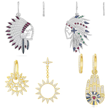 Ailie high quality 1:1 original 925 sterling silver earrings A Native American mask palm PM ladies fashion jewelry party gifts