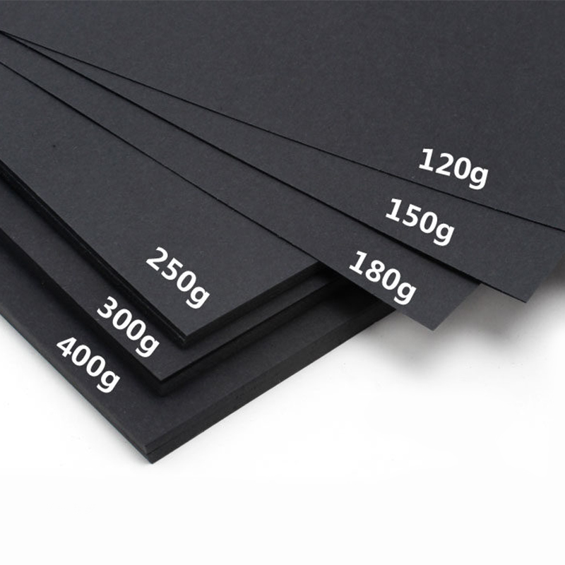 A4 Black Kraft Paper For DIY Handmade Cardboard Making 80g/120g/180g/230g/250g/300g/400g Hand Painting Paper Sketch Paper