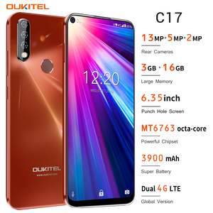 Image 3 - 4G Mobile Phone OUKITEL C17 Android 9.0 Smartphone 6.35 Face ID Fingerprint Octa Core 3GB 16GB 3900mAh Triple Camera MT6763