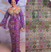 Nigerian Lace Fabric 2019 High Quality With Stones, High-quality lace cloth of stones DYS231