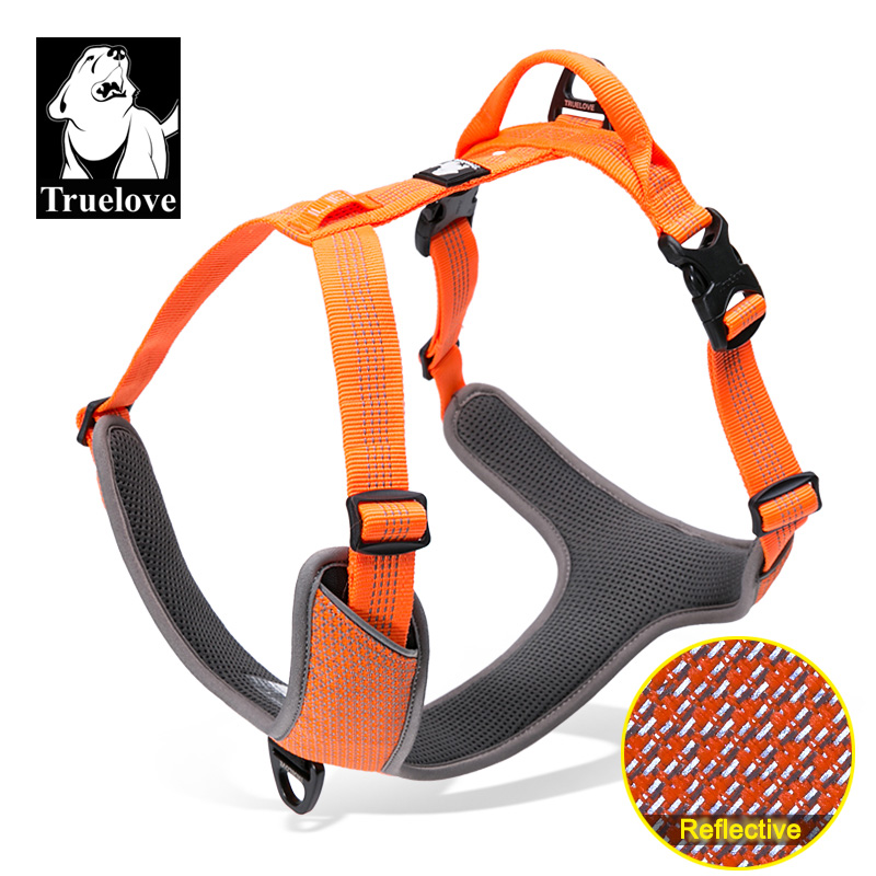 Truelove Pet Dog Harness Padded Reflective Pet Harness Tactical Control Dog Harness Outdoor Training Walking for Dogs Safety