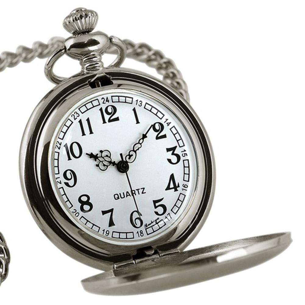 Retro Vintage Pocket Watch Classic Men Steampunk Smooth Quartz Pocket Watches Jewelry Alloy Chain Pendant With Necklace Chain
