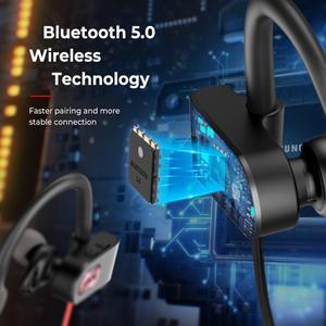 Image 4 - Спортивные наушники Mpow Flame 2, Bluetooth 5,0, IPX7, водонепроницаемые наушники, 13 часов, долгое время работы в режиме ожидания, CVC6.0, шумоподавляющие наушники с микрофоном