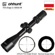 Ohhunt – fusils de chasse à bord fin, 3-18X50 SF, lunette de tir, parallaxe latéral, Mil, verre à points gravés, réticule, verrouillage, remise à zéro