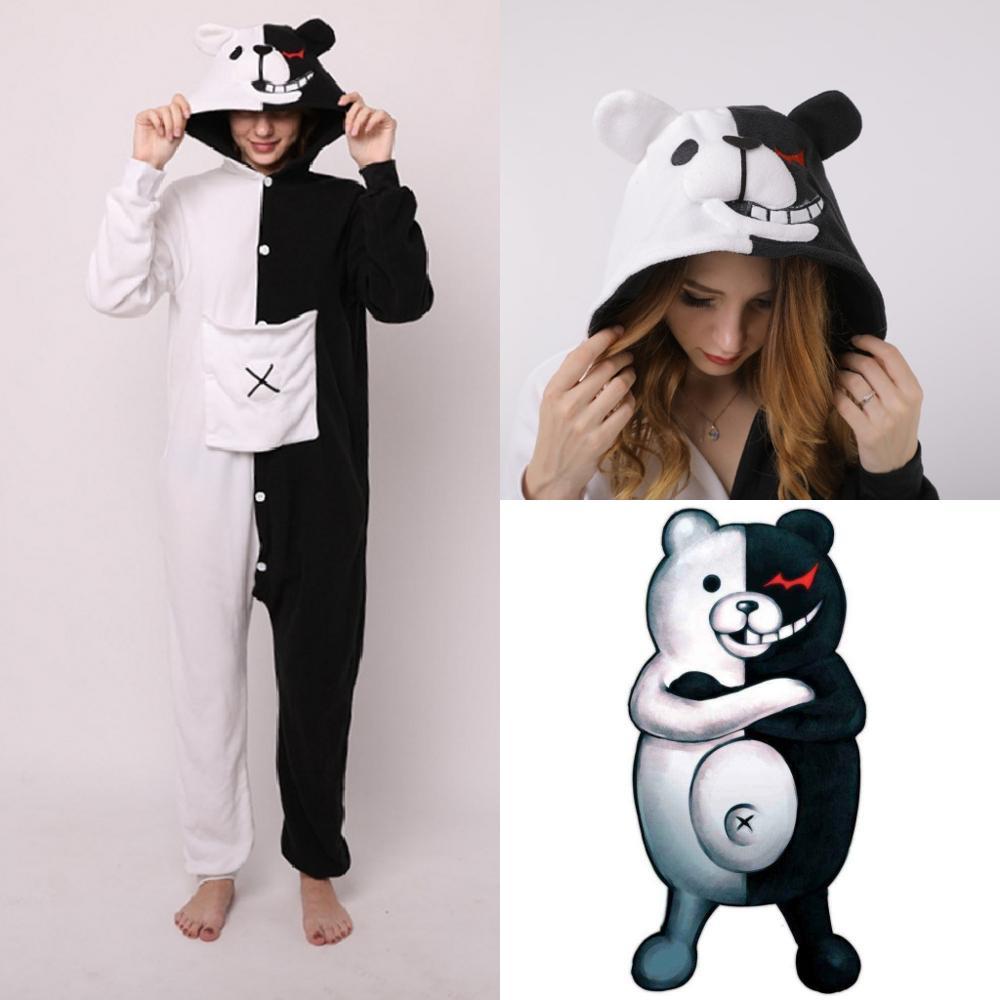 Danganronpa Monokuma Unisex Adult Kigurumi Pajamas Animal Cosplay Sleepwear Onesies