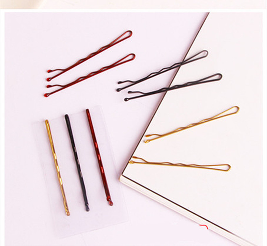 24PCS/Pack Women Girls Basic Black Gold 5 CM Barrettes Female Hair Clips Headbands Lady Good Quality Hairpins Hair Accessories