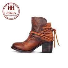 цена на Hohner fashion straps large size pointed high-heeled tube ladies autumn and winter PU Martin Boots
