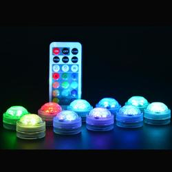 Светодиодный Дистанционное Управление светодиодный RGB погружной светильник Батарея работает под водой светодиодный ночник на открытом во...