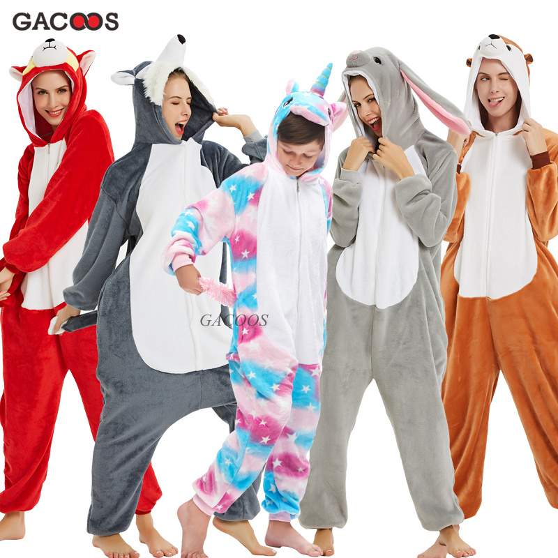 Kigurumi Pajamas Panda Children Girls Unicorn Pajama Boys Stitch Oneises Pijamas Unicornio Sleepwear Kids Baby Christmas Costume
