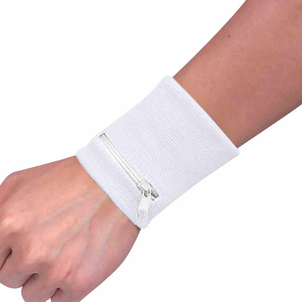 ファッション新レディース腕時計財布ポーチバンドジッパーランニング旅行ジムサイクリング安全コイン財布変更スポーツバッグ