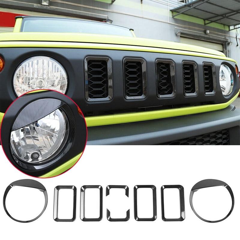 Car Headlight & Grille Inserts Trim for Suzuki Jimny 2019-20 Car Decoration Accessories