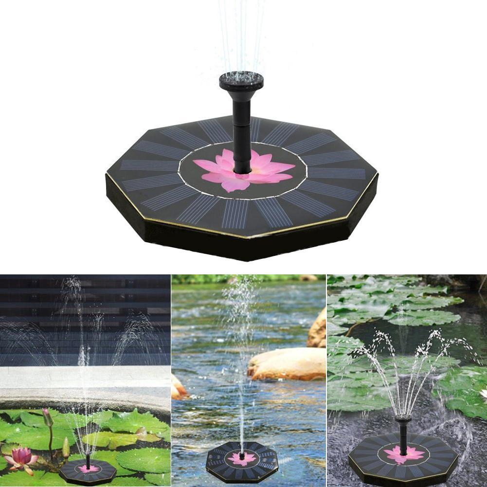 Neue Wasser Schwimm Pumpe Solar Power Brunnen Pool Garten Pflanze Bewässerung Solar Power Brunnen Pool Garten Liefert