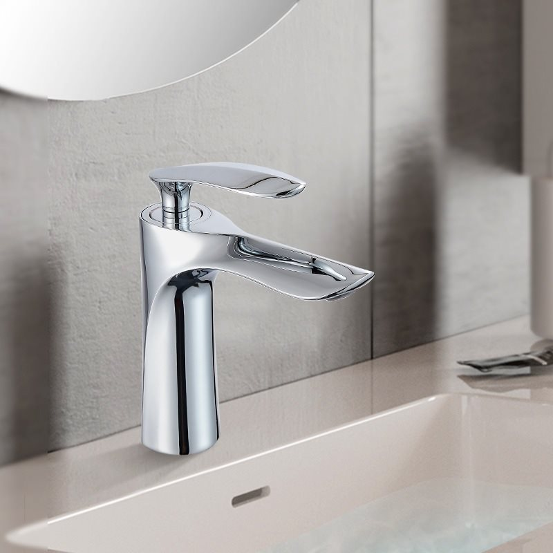 Wash Basin Hot And Cold Faucet Wash Basin Sanitary Ware Built-in Single Hole Basin Faucet Bathroom Cabinet Hot And Cold Faucet