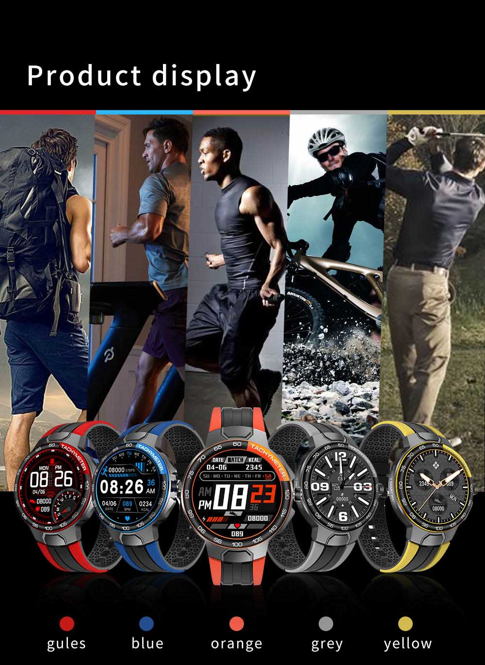 He0d6b477ac61496f943880018b9a4e65E Smart Watch Men Women IP68 Waterproof Bluetooth 5.0 24 Exercise Modes Smartwatch E1-5 Heart Rate Monitoring for Android Iosr A
