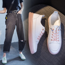 Luxury 2020 New Women Flats Shoes Breathble White Shoes Woman Fashion Sneakers Oxfords Casual Ladies Shoes Lace-up High Quality satin high top candy casual rainbow ladies harajuku flats elevator designer shoes women luxury 2018 lace up sneakers patchwork