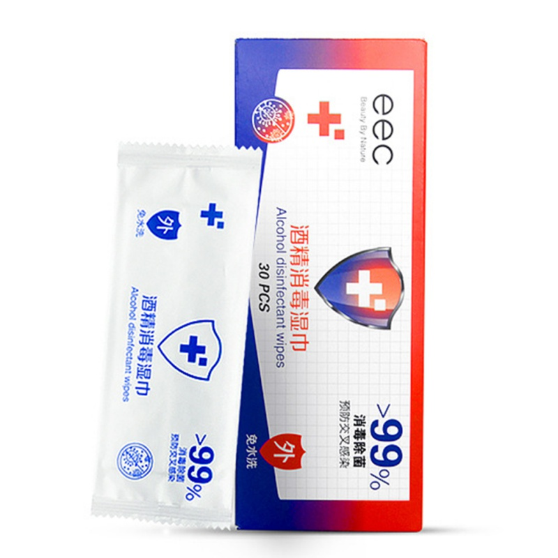 30 Pcs Alcohol Wet Wipe Disposable Disinfection Prep Swap Pad Antiseptic Skin Cleaning Care Hand Clean Wipe
