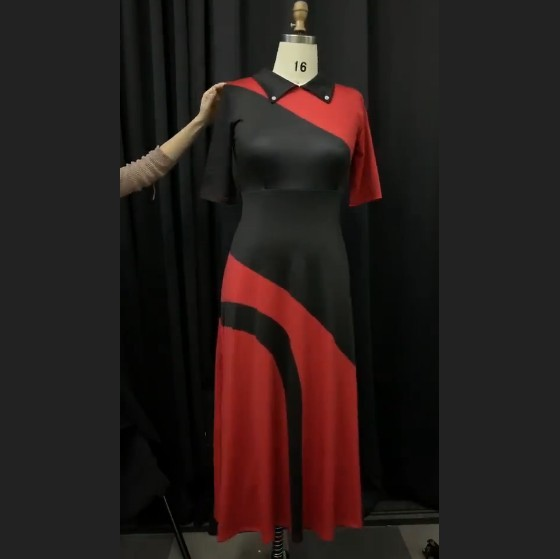 Elegant Women Collar Neck Half Sleeve Female African Style 2020 Vintage Women Office Lady Black Dinner Maxi Long Dress Vestiods 4
