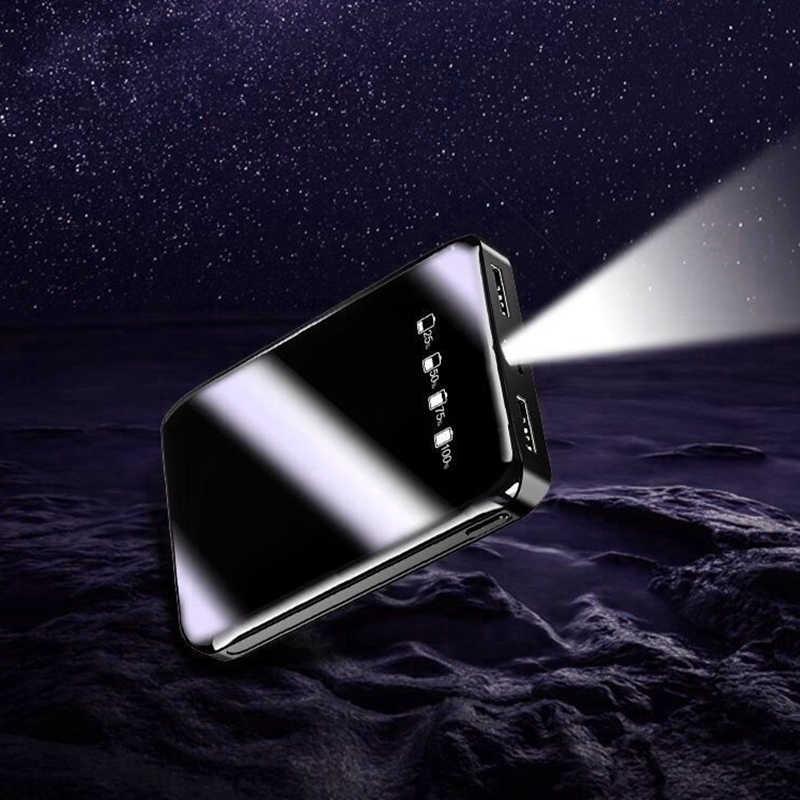 30000mAh Mini Power Bank Dual USB  Mi PowerBank For Xiaomi iPhone 6 7 8 X Fast Charger Dual Usb Ports External Battery Portable