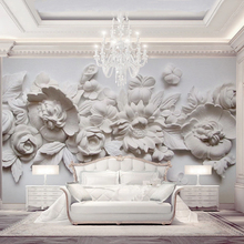 European Gypsum Carved Solid Wall Silk Wallpaper Customize Any Size Wallpaper 3D HD Interior Decoration Fine Oil Painting Style