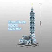 YZ Taibei 101 Building Diamond Blocks The World Famous Architecture Model Building Kits City Creator World Toys #2542pcs