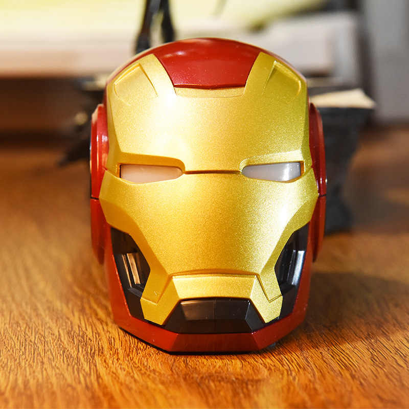 Mini Iron Man Wireless Speaker Portabel Yang Kuat Speaker Komputer Novel Hadiah Praktis Radio Music Center Drop Pengiriman