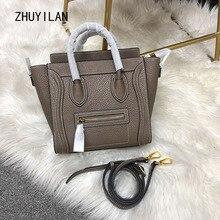High quality leather women bag fashion Head layer cowhide Sm