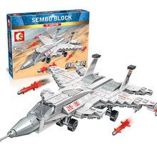 Sembo 229 шт Китай военный j 15 набор боевиков самолет саркрафт