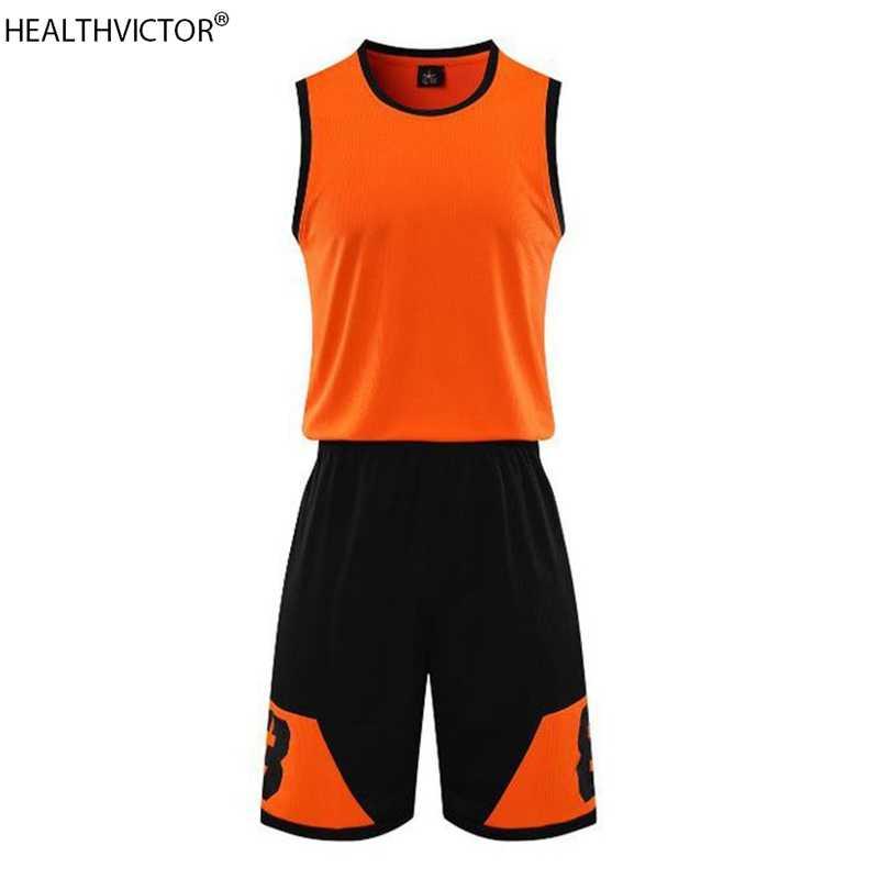 Breathable Dry Fit Fashion Printing Sleeveless Sports Suit Vest Jerseys Shorts Student Unisex Men Women Basketball Set Uniform