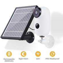 Indoor/Outdoor Wireless Rechargeable Solar Powered Security Camera System,1080p 2-Way Audio Night Vision PIR SD Card Cloud(China)