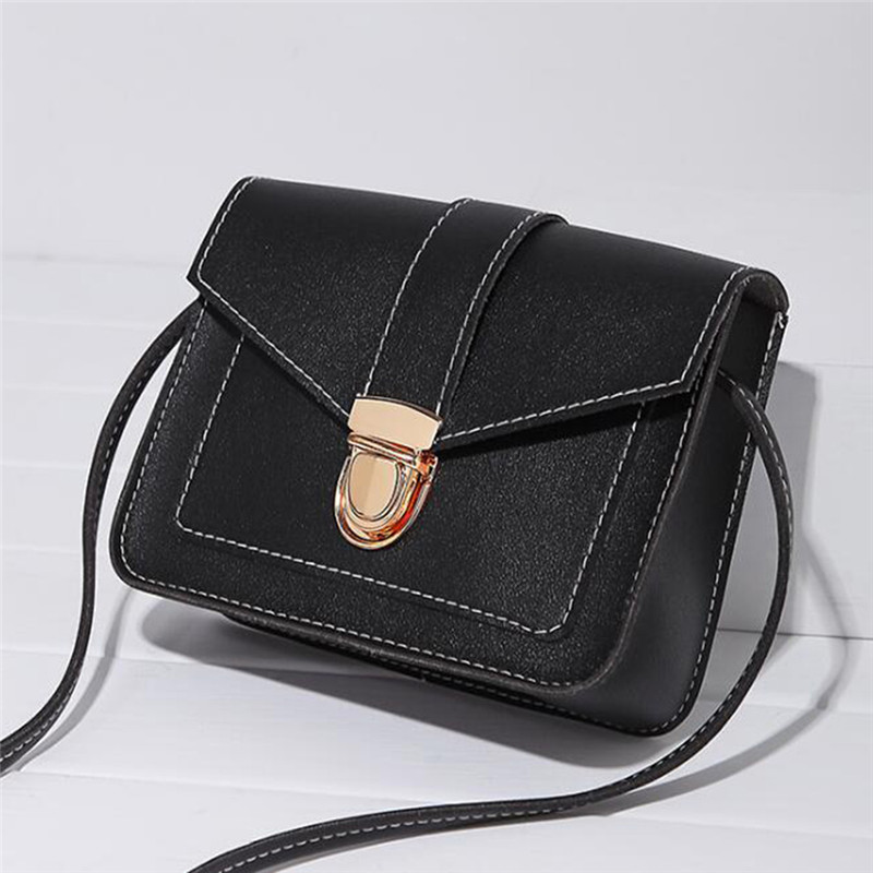 Women Small Square Bag Ladies Fashion Handbag Retro Shoulder Bags Messenger Bag Mobile Phone Packet