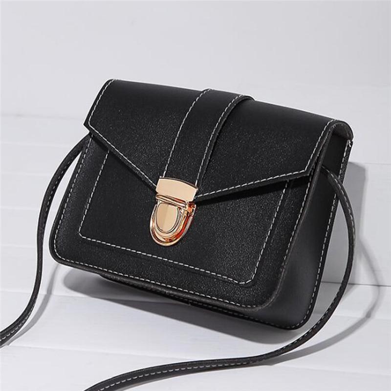 Women Small Square Bag Ladies Fashion Handbag Retro Shoulder Bags Messenger Bag Mobile Phone Packet