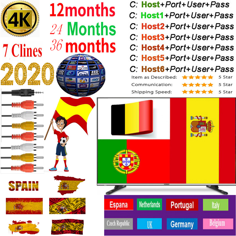 Cccam Europa Server 3Year Spain Portugal Germany Poland Satellite Tv Receiver 1-7Clines For DVB-S2 X800 X800S V7  V7s V8 Nova V9
