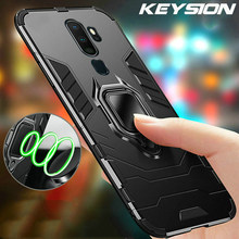 Keysion Shockproof Armor Case untuk OPPO A9 2020 A11X Dudukan Mobil Cincin Silikon Ponsel Penutup Belakang untuk OPPO A5 2020 A9 2020(China)