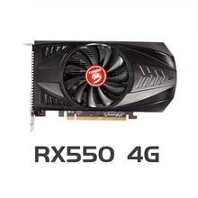 VEINEDA Video Karte Radeon RX 550 4GB GDDR5 128 bit Gaming Desktop computer Video Graphics Karten PCI Express 3,0 für Amd Karte