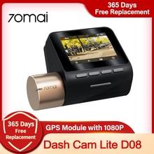 70mai kamera na deskę rozdzielczą Lite wersja globalna 1080P HD wideorejestrator samochodowy z noktowizorem wyszukiwarki, by zobaczyć 70mai aplikacji połączenie Smart Dashcam Monitor do parkowania
