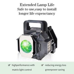 Image 3 - גרנד הנורה מנורת מקרן תואם עבור EPSON ELPLP49 EH TW3600 PowerLite HC 8350 EH TW3200 עם דיור
