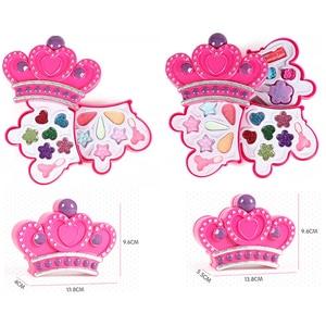 Image 5 - 子供のおもちゃセットふりプレイ王女ピンクメイク美容安全非毒性キットのおもちゃ女の子ドレッシング化粧品ガールギフト