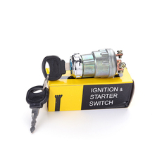 12V Car Ignition Start Switch With Key Universal 4 Foot 3 Wire Engine Starter Agricultural Modified Lock