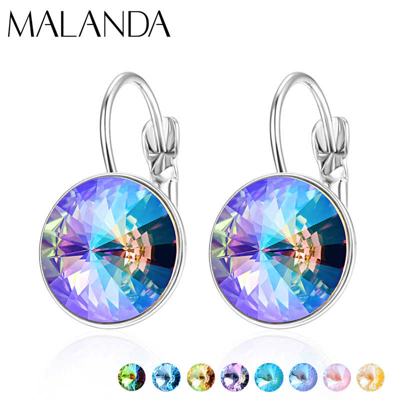 Crystals From Swarovski Dangle Earrings New Fashion Drop Earrings Round Bella Earrings For Women Elegant Party Wedding Jewelry