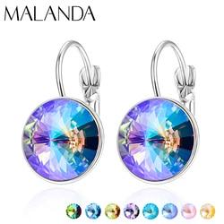 Crystals From Swarovski Dangle Earrings New Fashion Drop Earrings Round Bella Earrings For Women Elegant Party Wedding Jewelry